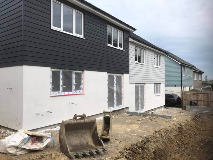 new houses with cladding